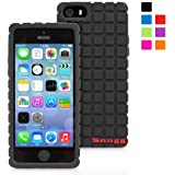 Snugg iPhone 5/5s Case - Protective, Non-Slip Silicone Case With Lifetime Guarantee (Black) For Apple iPhone 5/5s