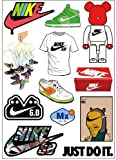 Nike Logo Skateboard Vinyl Sticker Laptop Luggage Car Bumper Cellphone Decals