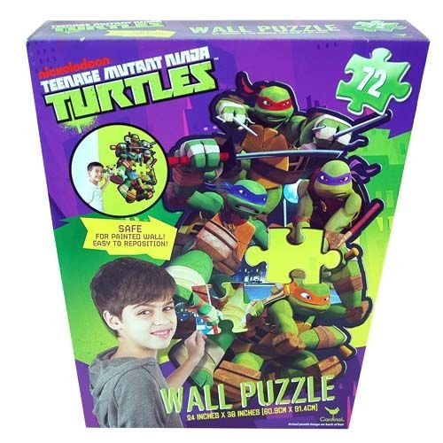 Nickelodeon Teenage Mutant Ninja Turtles 72 Piece Repositionable Wall Puzzle - Kids Room - 1