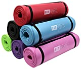 Fit Spirit® 1/2 Inch Comfort NBR Exercise Yoga Mat - Black Mat