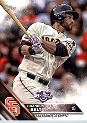 2016 Topps Opening Day #OD-19 Brandon Belt San Francisco Giants Baseball Card