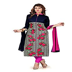 Khodiyar Fashion Blue Cotton Dress Materials
