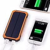 CALISTODE Portable 30000mAh Solar Ladegerät Power Bank Dual USB Schnittstelle