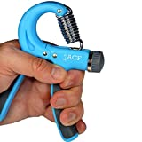 ACF-Hand-Grip-Strengthener-Strength-Trainer-Adjustable-Resistance-22-88-Lbs-Best-Hand-Exerciser-Gripper-or-Ball-Set