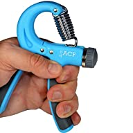 ACF Grip Strengthener Best Adjustable Hand Exerciser -Resistance Range 22 to 88 Lbs