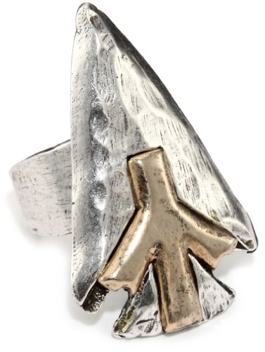 Low Luv by Erin Wasson Silver-Tone Arrowhead Ring, Size 8