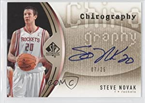 Steve Novak #7 25 Houston Rockets (Basketball Card) 2006-07 SP Authentic Chirography... by SP Authentic