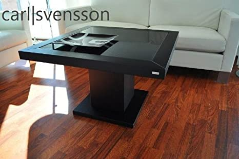 DESIGN COUCHTISCH S-360 schwarz getöntes Glas Carl Svensson NEU