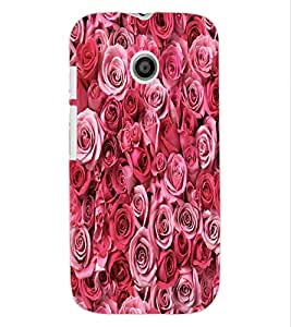 ColourCraft Beautiful Roses Design Back Case Cover for MOTOROLA MOTO E