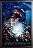 Peter Pan – Poster – One Sheet + Wechselrahmen der Marke Shinsuke® Maxi aus edlem Aluminium (ALU) Profil: 30mm schwarz