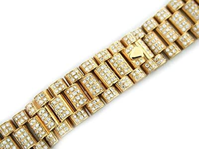 Mens 18ky President All Diamond Watch Band for Rolex by EWP