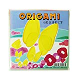 OZ International Lot de 60 Papiers origami 15 x 15 cm 20 Couleurs Assorties/Or/Argent...