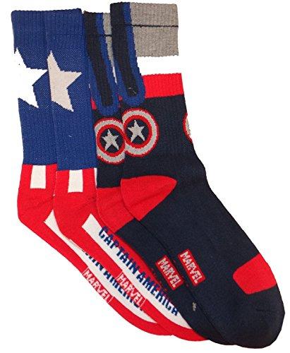 Marvel Captain America 2 Pack Socks