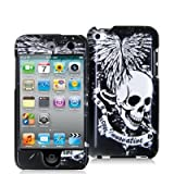 Fosmon Skull Print Two Piece Snap-On Hard Cover Case for Apple iPod touch 8GB 32GB 64GB (4th Generation) 4 4G