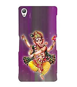 Tandava Ganesha Cute Fashion 3D Hard Polycarbonate Designer Back Case Cover for Sony Xperia Z3 Compact :: Sony Xperia Z3 Mini :: Sony Xperia Z3 D5803, D5833