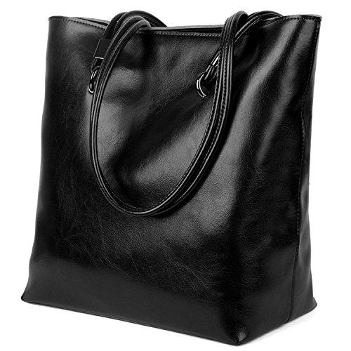 yaluxe-womens-casual-style-leather-top-handle-tote-handbag-shoulder-bag-black
