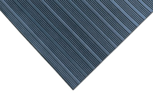 Rubber-Cal Composite Rib Corrugated Rubber Floor Mats, 3mm Thick x 3ft x 6ft Roll
