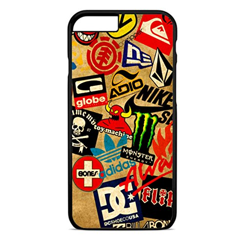 Skateboard Sticker Logo iPhone 6 Case Black (Iphone 6 Case Monster Energy compare prices)