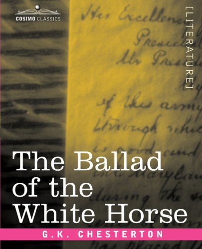 The Ballad Of The White Horse By Gk Chesterton Buy Poetry Books