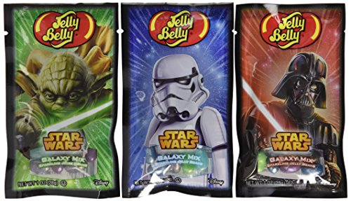 Jelly Belly Star Wars Galaxy Mix Sparkling Jelly Beans Mix - 1 oz Bag (8 Bags) (Star Wars Candy)
