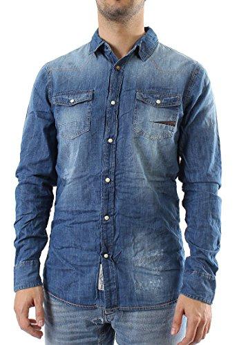 Japan Rags -  Camicia Casual  - Altro - Uomo blu XL