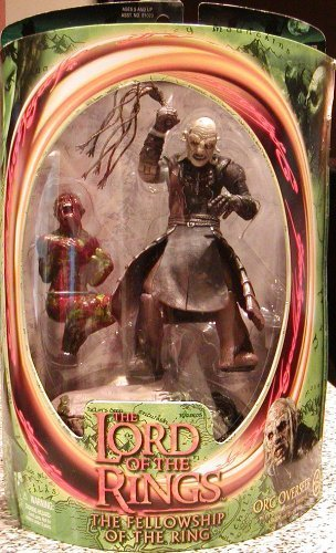 Lord of the Rings of the Fellowship Ring Orc Overseer with Dungeons of Isengard Newborn UrukHai by Toy English Biz (Manual)
