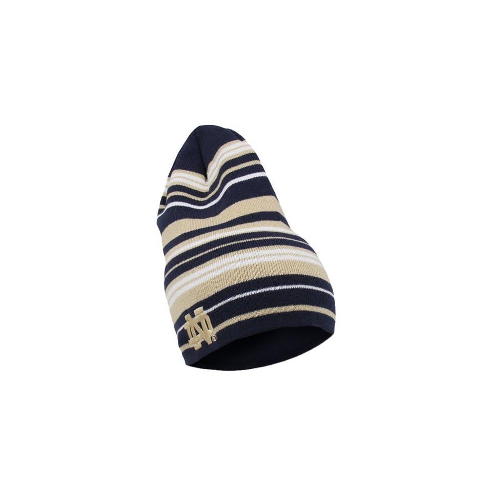 NCAA adidas Notre Dame Fighting Irish Long Knit Cuffless Beanie   Navy Blue/Gold