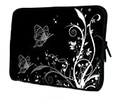Butterfly Black & White 7 Inch Tablet Ipad Mini Case Pouch Sleeve 6