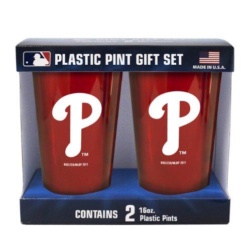MLB Philadelphia Phillies Boelter Brand Plastic 16 Ounce Pint Cups (Pack of 2)-P BOBBPHIT2