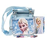 Disney Frozen Elsa Snow Blue 3 Detachable Layers Shoulder Bag with Stationery Set