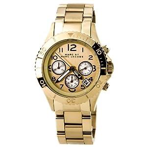 Marc by Marc Jacobs Women's MBM3188 Rock Chrono Gold Tone Bracelet Watch