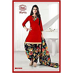 Vivel Women's Unstitched Cotton dress material (SS_11_Pack of 4_Large)
