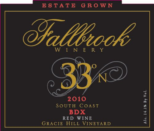 2010 Fallbrook Winery 33° North Bdx Red Blend 750 Ml