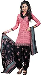 Varsha Women's Synthetic Unstitched Dress Material (Multi-coloured)