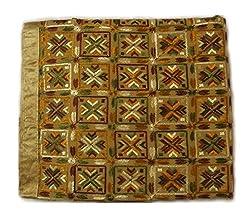 Ladies Unstitched Fabrics Dress:;Cotton fabric; Embroidered phulkari ; half pure border; embroidered duptta.