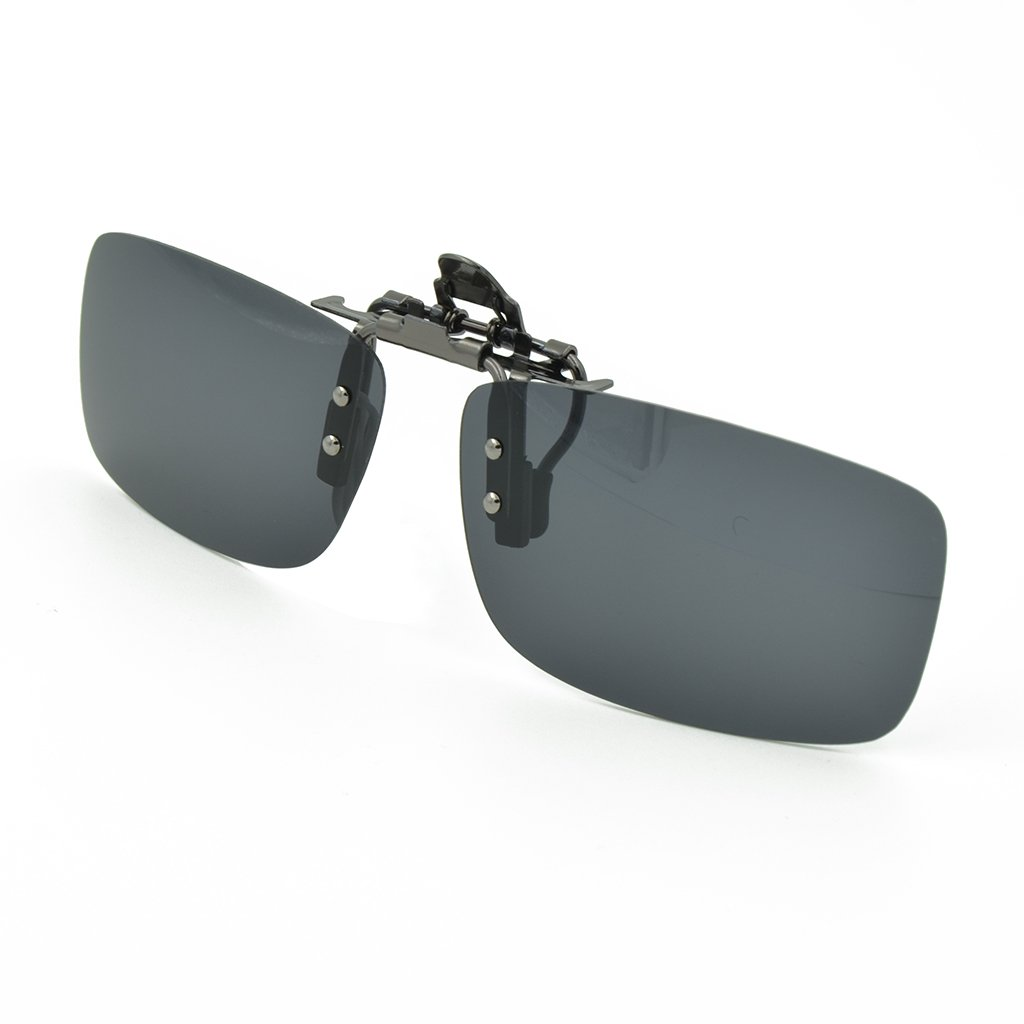 Besgoods Sunglasses Polarized Clip On Flip Up Metal Clip ...