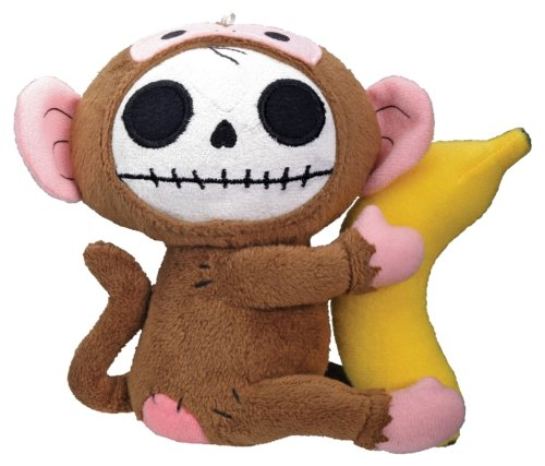 Munky Monkey Furry Bones Plush Stuffed Animal Doll Small Collectible