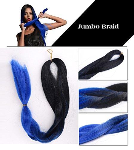alisss queenatm3pcslot ombre expression kanekalon blue