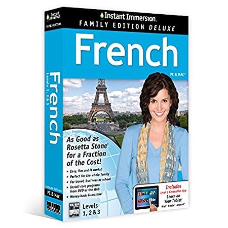 Instant Immersion French Levels 1,2 & 3 Family Edition Deluxe (Unlimited Household Use)