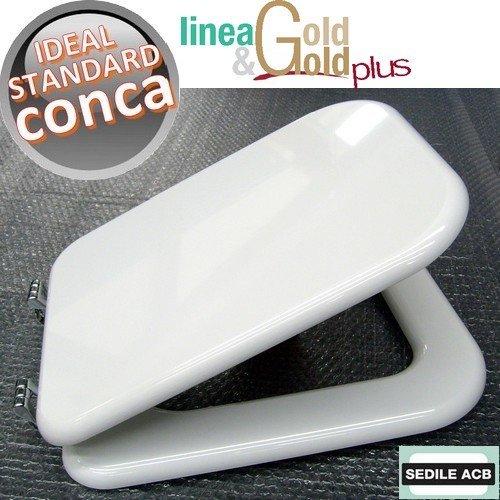 Asse sedile per wc conca ideal standard marca acb linea gold for Ideal standard conca prezzo