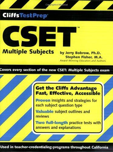 Cset: Multiple Subjects (Cliffs Test Prep) front-566088