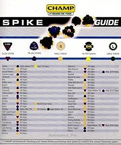 Champ Stinger Q-Lok Thread 56 Golf Shoe Spikes by Champ
