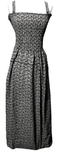 Smocked Black White Paisley Design