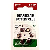 Hearing Aid Battery Club ZeniPower MF Size 312 (60 pack)