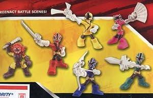 Power Rangers Samurai Action Figure 6Pack Mini Battle Ready Figures