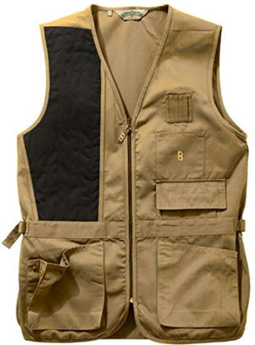 Bob Allen 240S Solid Shooting Vest – Khaki, Right Hand, 2XL –