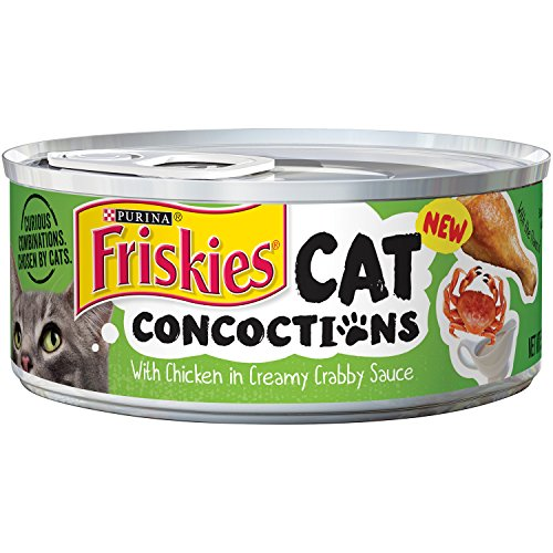 Friskies Cat Concoctions With Chicken In Creamy Crabby Sauce