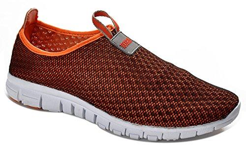 Adi Men & Women Breathable Mesh Running Sport Tennis Outdoor Shoes,Beach Aqua,Athletic,Exercise,Slip Wave for Men Orange EU44