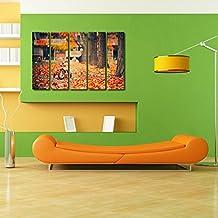 999Store Multiple Frames Wall Art Panels Sunboard Frame Printed Flower Leaves Like Modern Wall Art Painting -...