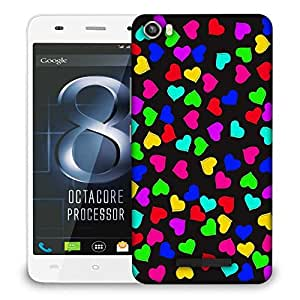 Snoogg Heart pattern 2421 Designer Protective Back Case Cover For LAVA IRIS X8